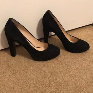 Black Suede Nine West Pumps